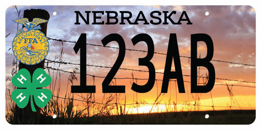 nebraska 4-h/nebraska ffa license plate - nebraska 4-h foundation